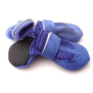 Universal Cozy Suede Mesh Anti-slip Pet Shoes - Blue / Size: M