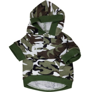 Camouflage Dog Fleece Pet Clothes Autumn and Winter Dog Coat - Size: L