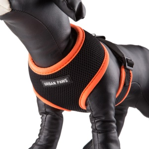 URBAN PAW Soft Mesh Padded Nylon Dog Harness Vest - Orange/Size M
