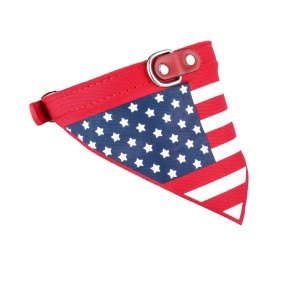 Triangle Shape Dog Pet Scarf Neck Collar for Dogs - American Flag / Size: M