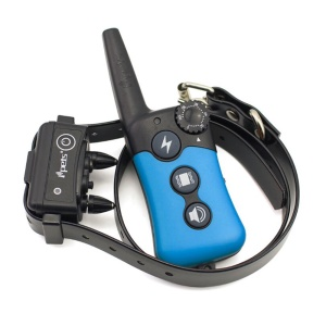 IPETS 619 Electric Dog Training Collar Rechargeable Dog Shock Collar for All Size Dogs - Blue / EU Plug