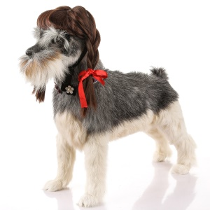 Funny Pet Dog Curly Hair Costume Wig - Style F