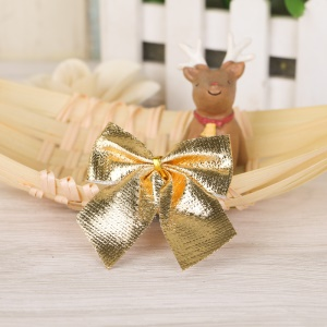 12PCS/Pack Bowknot Ornament Christmas Tree Decoration - Gold Color