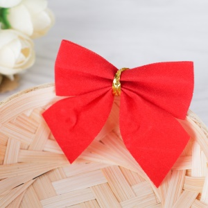 12PCS/Pack Christmas Tree Decoration Bowknot Ornament - Red