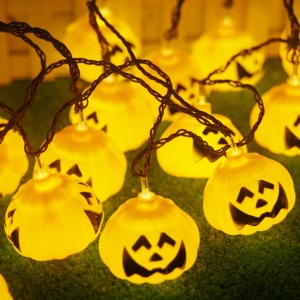 5 Meters 20 LEDs Pumpkin Light String Halloween Lighting Garden Decoration Halloween Accessories - Yellow