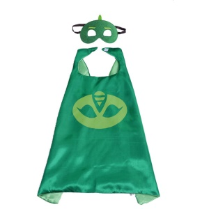 Superman Cape & Mask Set Halloween Costume Cloak for Child - Green