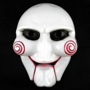 Cool Horror White Face Mask Fancy Adult Costume Cosplay Mask PVC Halloween Cosplay Prop Mask