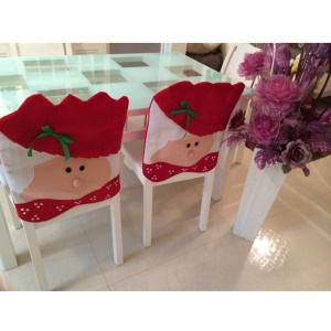 Christmas Santa Claus Chair Back Cover Christmas Kitchen Chair Cover, Size: 44 x 54cm