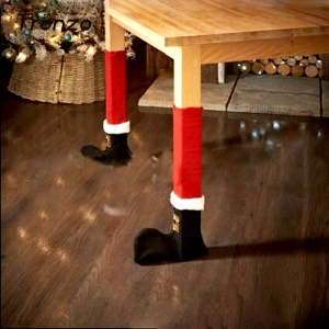 4PC Adorable Christmas Chair Table Feet Leg Cover for Christmas Party Decoration