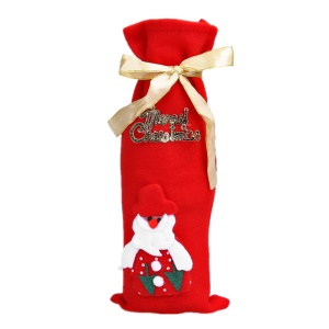 Christmas Red Wine Bottle Cover Bag Dinner Table Decoration Home Party Supplies - Santa Clause