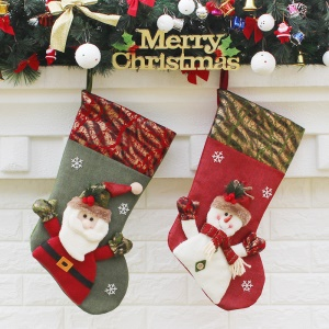 2PCS / Pack Soft Hanging Christmas Stocking Gift Gift Gift Gift Gift, Size: 46 x 24 x 27cm