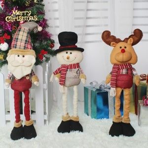 3PCS/Pack Christmas Retractable Dolls Christmas Gifts Stuffed Plush Christmas Doll