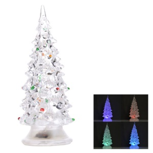 Clear Acrylic Christmas Tree with Colorful LED Light for Party Store Mall Decoration