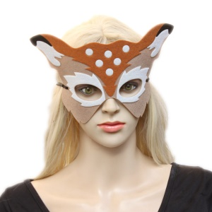 Deer Pattern Adult and Kids Half Face Party Mask for Halloween Christmas