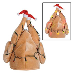 Thanksgiving Costume Turkey Hat Light-Up Drumsticks Cap