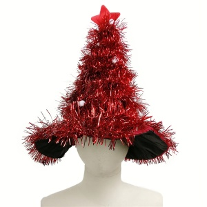 Xmas Gift Christmas Tree High Hat Party Costume Child Kid Headgear - Red