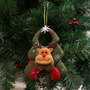 Adorable Christmas Tree Decoration Hanging Doll Small Christmas Ornaments - Reindeer