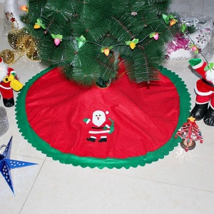 90cm Diameter Santa Claus Pattern Christmas Santa Tree Skirt