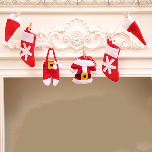 Christmas Hanging Bunting Banner Flags Decoration for Holiday Party Decoration