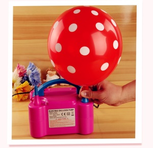Balloons Electric Air Pump Inflator with Double Hole Air Compressor - EU Plug