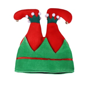 Kids Adult Creative Cute Elf Christmas Hat Party Pants Hat - Green / Red