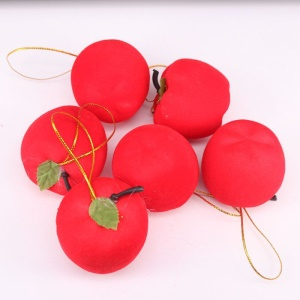 6Pcs/Set Red Apple Christmas Tree Hanging Ornaments Tree Decorations