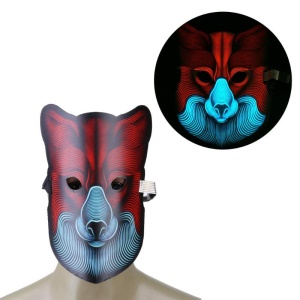 Sound Reactive LED Masks Halloween Glowing Ball Mask - Style 2