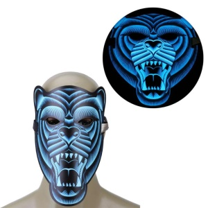Sound Reactive LED Masks Halloween Glowing Ball Mask - Style 8