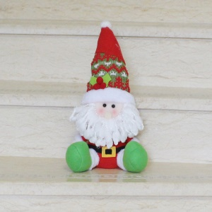 1-piece Plush Toy Doll Ornament for Christmas Hanging Decoration - Santa Claus