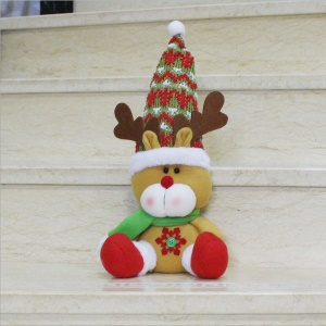 1-piece Cute Plush Sitting Doll Ornament for Christmas Decoration -  Elk