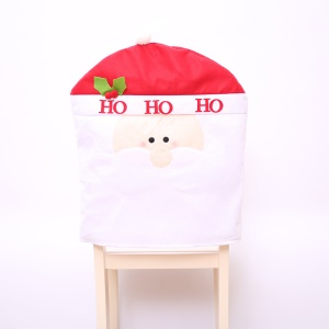 Christmas Party Decor Ornaments Chair Back Cover - Santa Claus