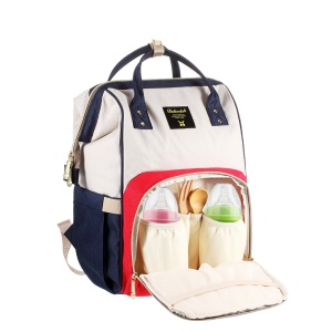 DOKOCLUB Fashion Multifunctional Large Capacity Mommy Bag Oxford Cloth Travel Bag Backpack with 2 Feeding-bottle Pockets