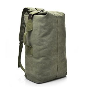 Canvas Causal Bag 23L Large Capacity Men's Travel Backpack - Army Green / Size: S