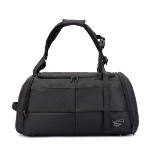 TUGUAN Large Foldable Carry-on Travel Bag Weekend Shoulder Handbag with Shoe Pocket - Black