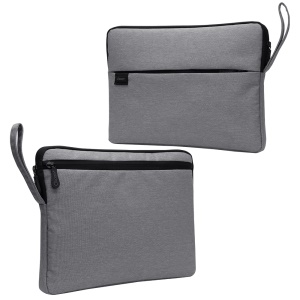 Nylon Fabric Shockproof Sleeve Bag for 13.3-inch Notebooks with Soft Plush Lining - Grey