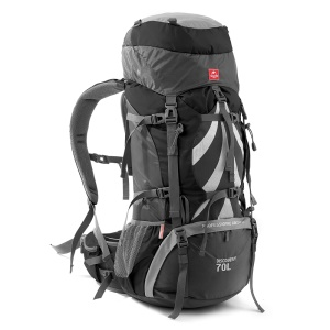 NH 70L Men Outdoor Hiking Climbing Camping Outdoor Backpack - Black