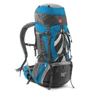NH 70L Men Outdoor Hiking Climbing Camping Outdoor Backpack - Blue