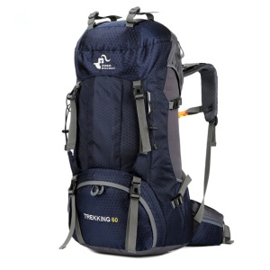 FREEDOM KNIGHT 60L Large Capacity Travel Hiking Camping Outdoor Backpack - Dark Blue