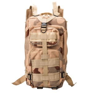 3P 25L Outdoor Marching Knapsack Tactical Backpack - Desert Camouflage