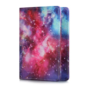 Multi-functional Pattern Printing PU Leather Passport Holder Wallet Cover Case - Galaxy