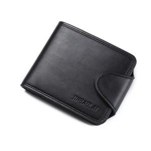 JINBAOLAI Multi Card Slots Tri-Sac à main en cuir PU Leather Wallet - Noir