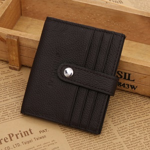 Business Genuine Leather Men's Wallet ID Credit Card Holder - Coffee