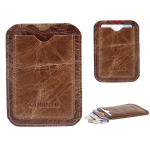 Portable Genuine Leather Card Holder