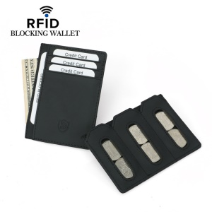Ultra-Slim RFID Blocking Card Holder - Black