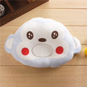 Cute Cartoon Monkey Shape Breathable Soft Head-shaping Pillow for Baby Sleeping - Baby Blue