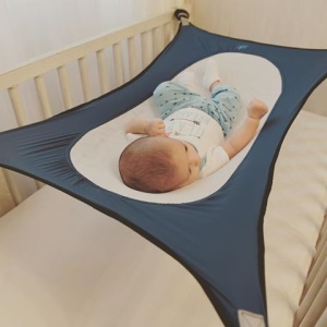 Baby Safety Hammock Sleeping Bed Portable Baby Crib Cot Bed - Blue