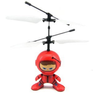 UFO Alien Flying Robot Helicopter Flying Aircraft RC Remote Control Toys - Red