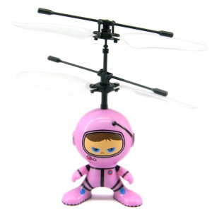 UFO Alien Robot Shaped Flying Aircraft RC Remote Control Toys - Pink