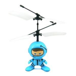 Magic UFO Mini Flying Robot RC Remote Control Helicopter for Children Toys - Light Blue