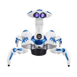 Infrared Remote Control Devil Mantis Roboquad Multifunctional Programmable Robot - Blue